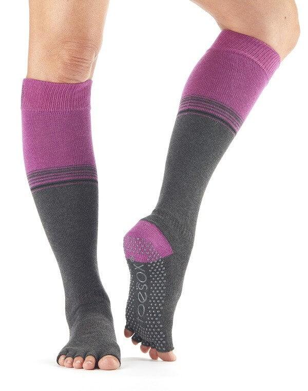 Half Toe Scrunch Knee High Grip Socks-0